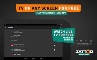 Screenshot of Zattoo Live TV