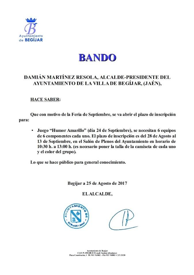 Bando Juego Humor Amarillo