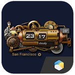 Steampunk Style Weather Widget 4.8.3_release Apk