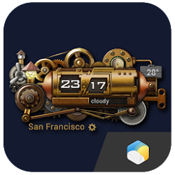 Steampunk Style Weather Widget