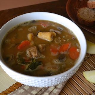 Creamy Chik'n Soup with Sweet Potato Gnocchi