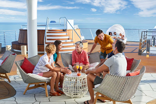 You can start or end your day by sharing your experiences on the Vista Deck of Celebrity Flora.