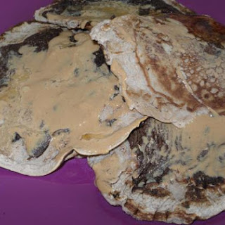 Chocolate Banana Protein Pancakes.