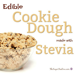 How to make Edible Cookie dough with Stevia.