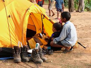 Photo: Eerste kamp in Bhogteni: erg veel privacy wordt ons niet gegund.
