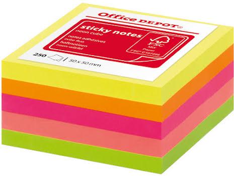 Notiskub Mini 50x50mm neon