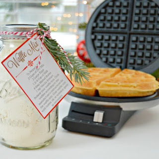 Homemade Waffle Mix and Free Printables