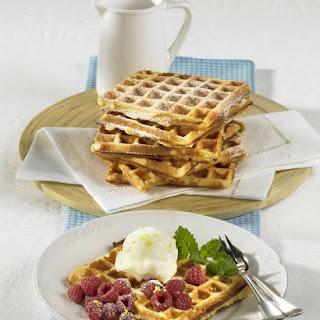 Buttermilk Waffles with Lemon Sorbet