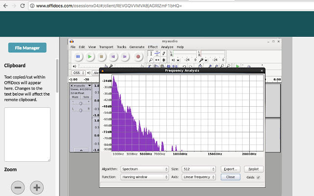 Audio editor online Audacity with Telegram