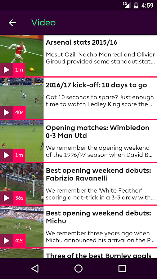 Premier League - Official App- screenshot