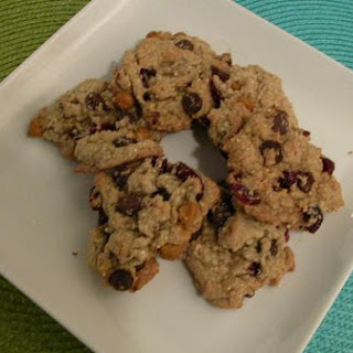 Quinoa Butterscotch Craisin Cookies