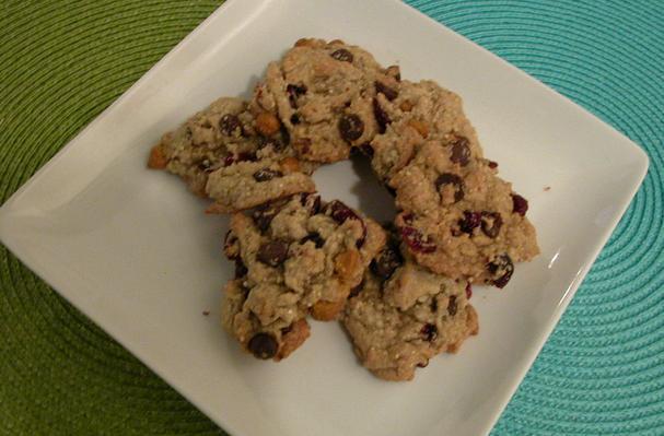 Quinoa Butterscotch Craisin Cookies Recipe