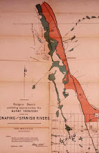 Photo: Map of Burnt Territory, 1891 (Ontario Archives)