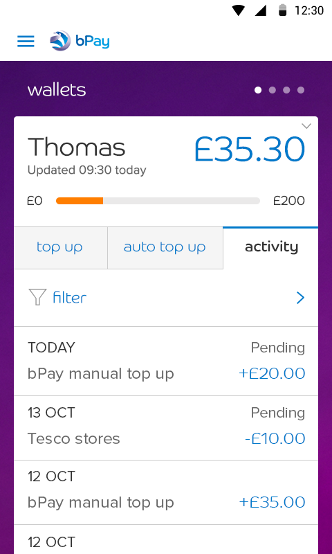 bPay- screenshot