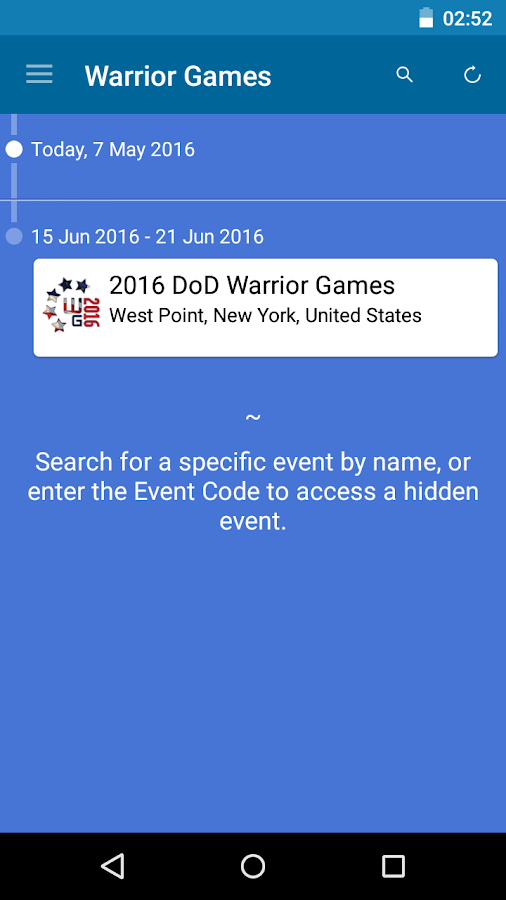 2016 DoD Warrior Games- screenshot