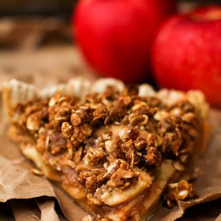 Caramel Apple Crumble Pie.