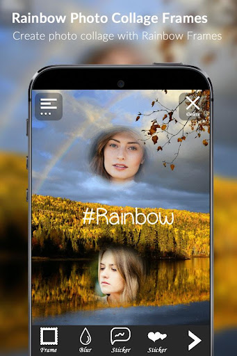 Rainbow Photo Collage Frames