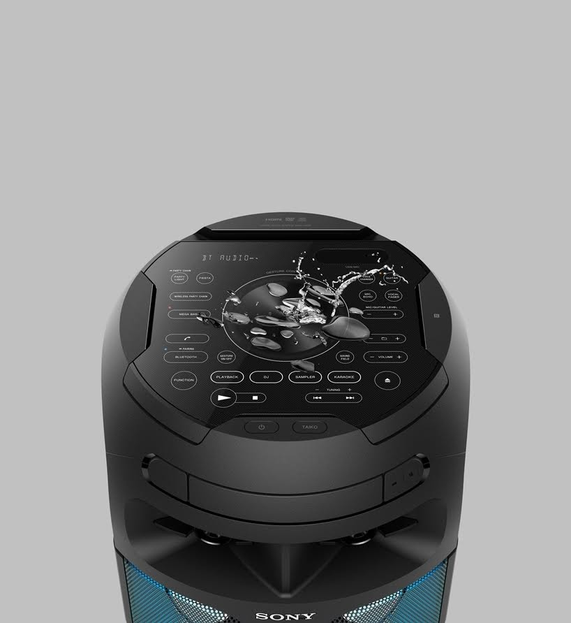 Con el nuevo Sony MHC-V81D con salidas HMDI, el sonido y las luces 360° no faltaran en tus fiestas