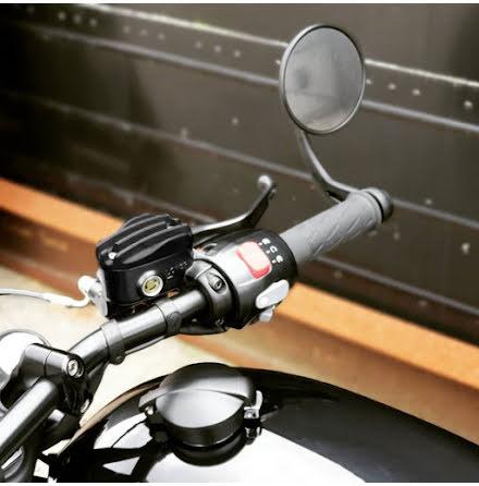 Pressure Cast Disc Brake Oil Reservoir Master Cylinder Cap - Finned/Ribbed - Black