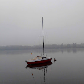 by Mihai Nita - Uncategorized All Uncategorized ( fog, lake, transportation, yawl, boat, landscape,  )