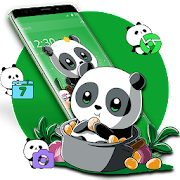 Cute Anime Green Panda Theme