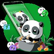 Download App Cute Anime Green Panda Theme