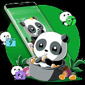 Tải Cute Anime Green Panda Theme APK