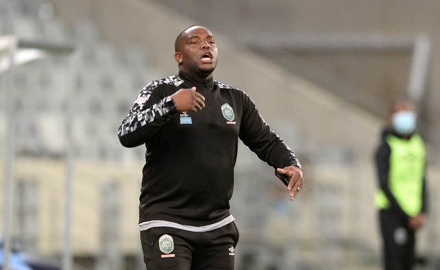Benni McCarthy, head coach of AmaZulu, during the DStv Premiership match against Cape Town City FC at Cape Town Stadium on April 29, 2021.