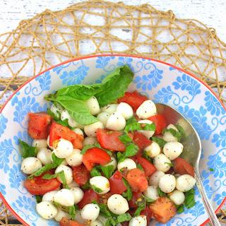 Bocconcini Caprese – Fresh Tomato Mozzarella Salad.