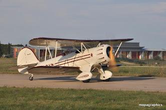 Photo: fin de journée, les premiers départs comme pour le superbe WACO Classic Aircraft YMF F5C - Moteur étoile Jacobs L4d e 245 cv