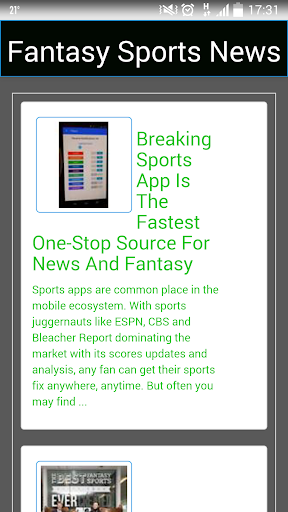 My Fantasy League Sports News