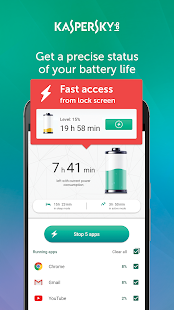 Kaspersky Battery Life: Saver & Booster Screenshot