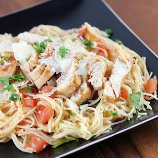 TGI Friday's Bruschetta Chicken Pasta.