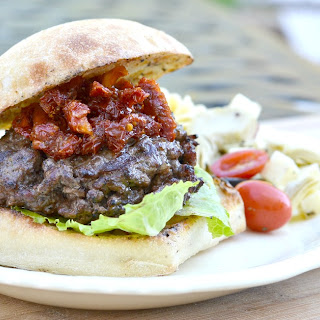 Grilled Goat Cheese Burger Recipe