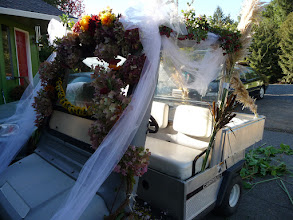 Photo: the bride's chariot