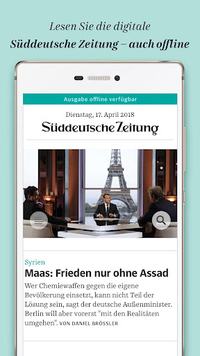 Süddeutsche Zeitung Zeitungsapp 4.1 screenshots 1