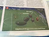 Club Brugge zag er niet goed uit op de stilstaande fase van de Portugese goal