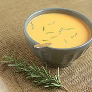Creamy Sweet Potato Rosemary Soup.