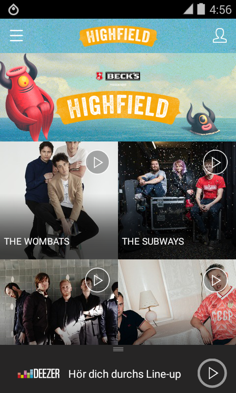 Highfield Festival- screenshot