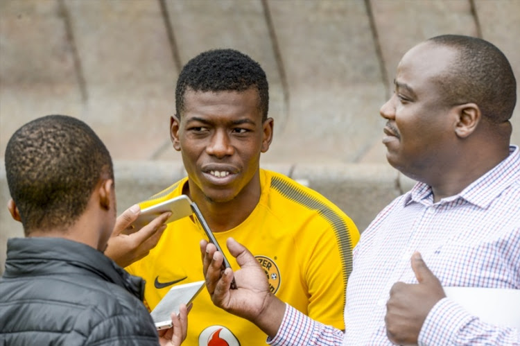 Teenage Hadebe of Kaizer Chiefs during the Kaizer Chiefs Media Open Day at Kaizer Chiefs Village on February 22, 2017 in Johannesburg.