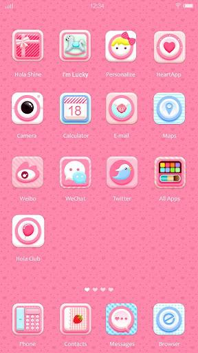 玩免費個人化APP|下載Pink Polka  Hola Launcher テーマ app不用錢|硬是要APP