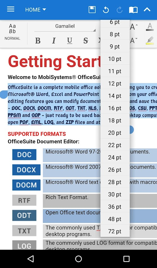 OfficeSuite Font Pack- screenshot