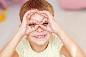 5 year old boy doing loopie eyes
