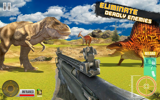 Code Triche Real dinosaur hunting game new 2020 APK MOD screenshots 4