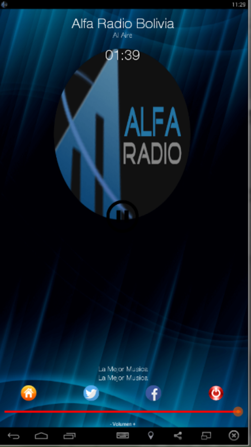 Alfa Radio Bolivia- screenshot