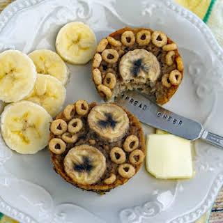 Gluten Free Banana Oatmeal Muffins.