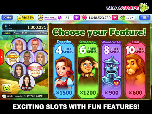 SLOTS GRAPE - Free Slots and Table Games download 2