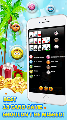 Chinese Poker - Multiplayer Pusoy, Capsa Susun 2.0 1
