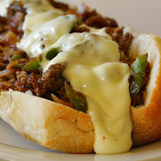 Slow Cooker Philly Cheese Steak Sandwiches.
