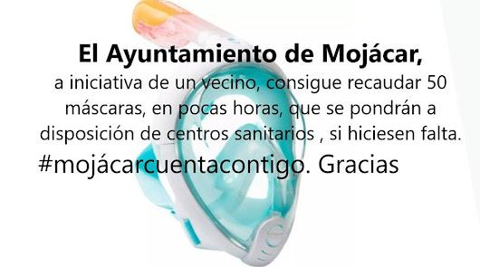 Mojácar inicia una campaña de recogida de máscaras de buceo Decathlon